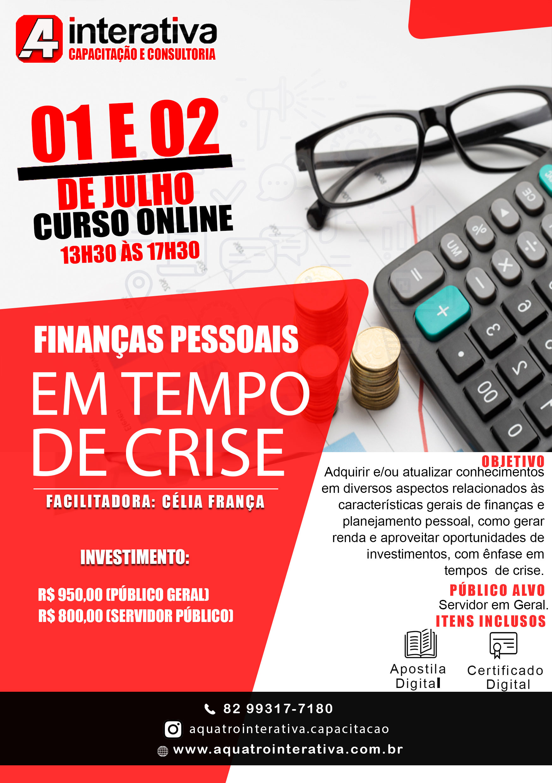 Finanças Pessoais em Tempo de Crise